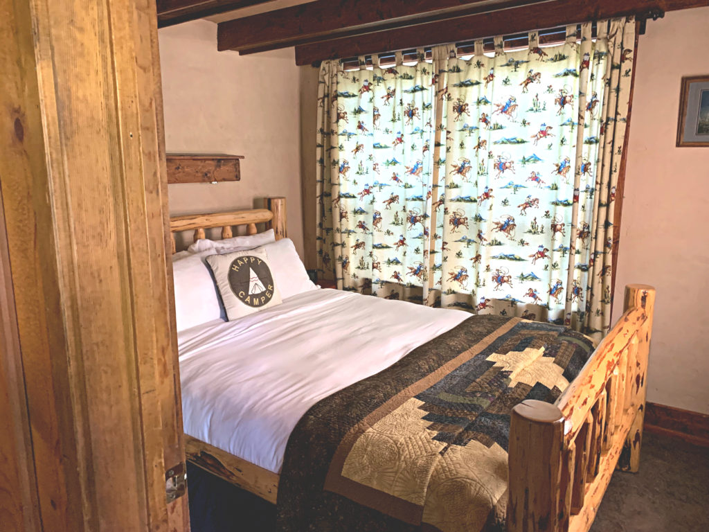 Flathead Lake Lodge Cabin Bedroom
