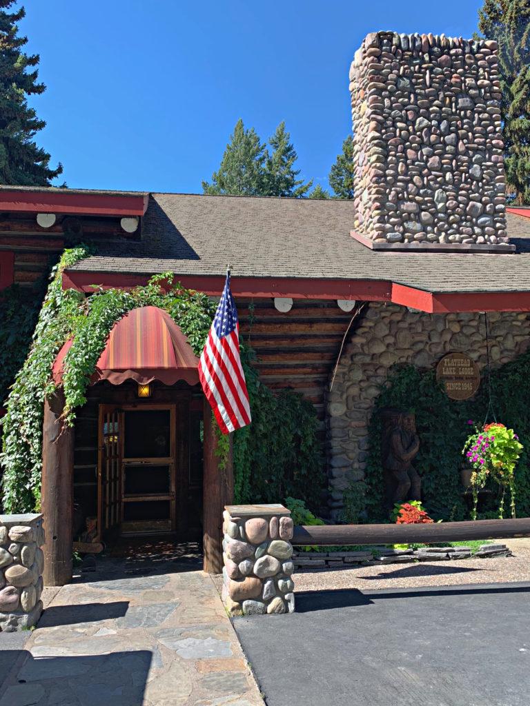 awning at main entrance at Flathead Lake Lodge