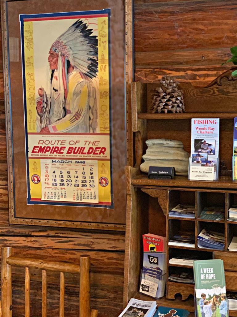 Vintage Calendar Flathead Lake Lodge