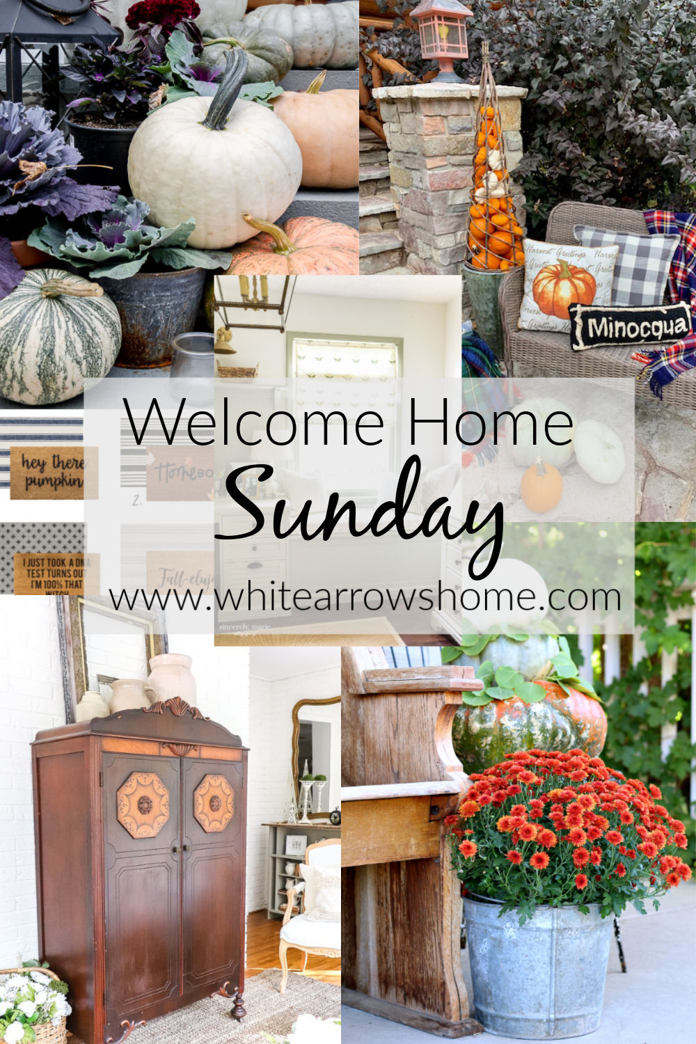 welcome home sunday collage