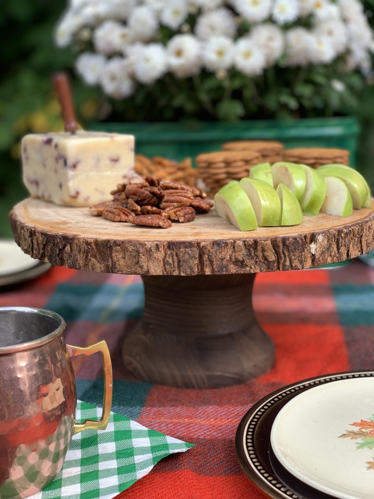 Rustic CakeStand with Fall Treats