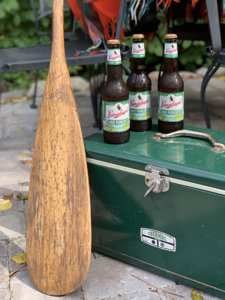 Vintage Green Thermos Cooler and Beer