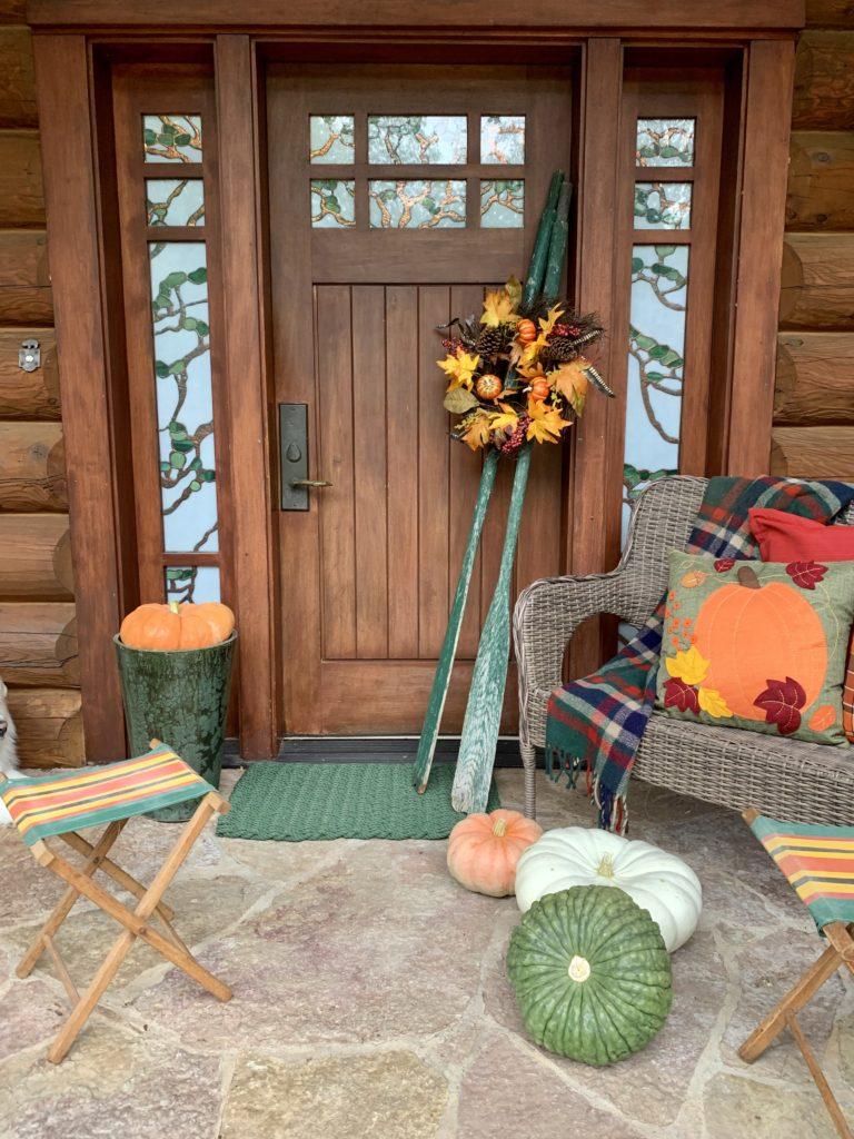 Fall Porch Front Door