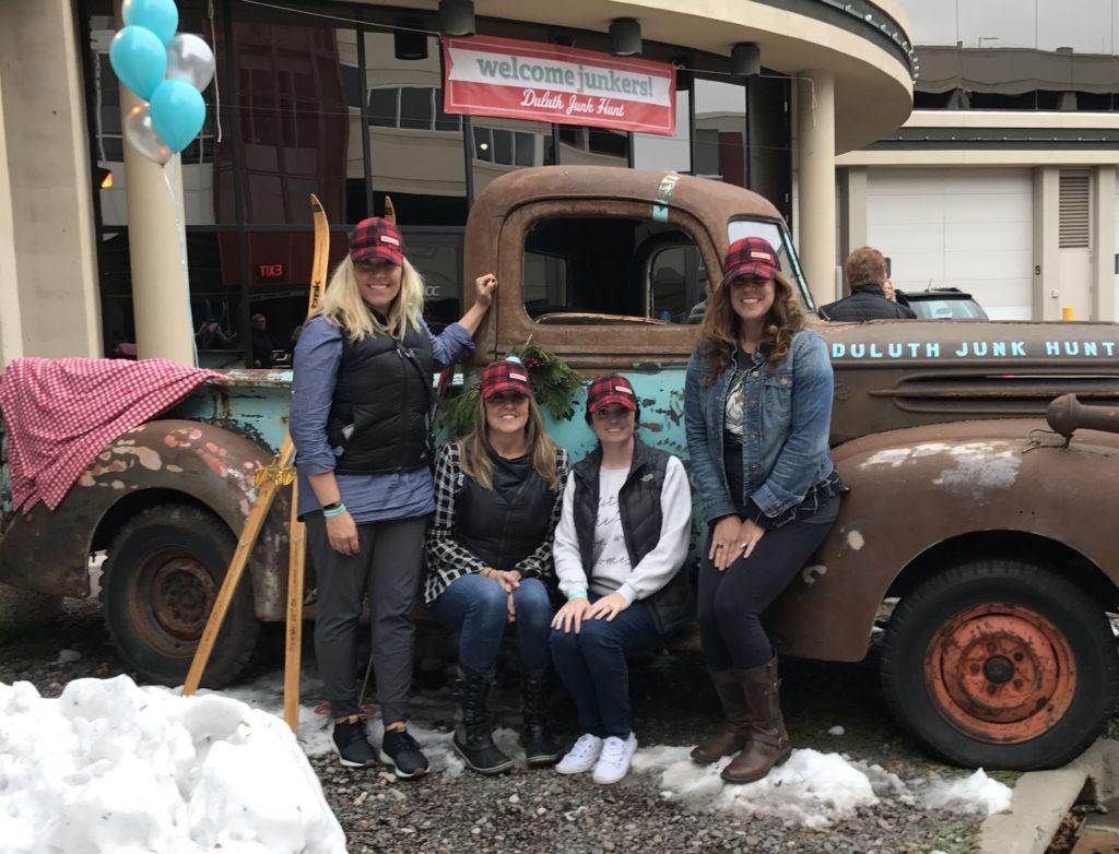 duluth junk hunt vintage truck photo op