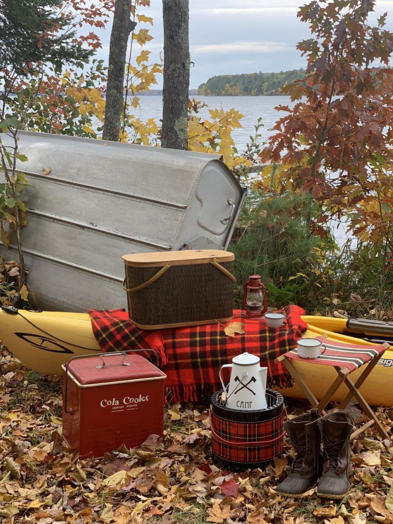 Fall Picnic by Lake