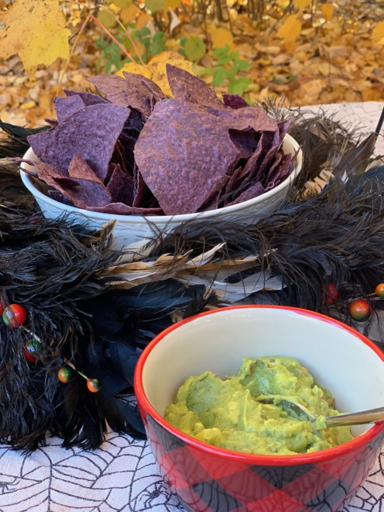 Blue Chips and guacamole