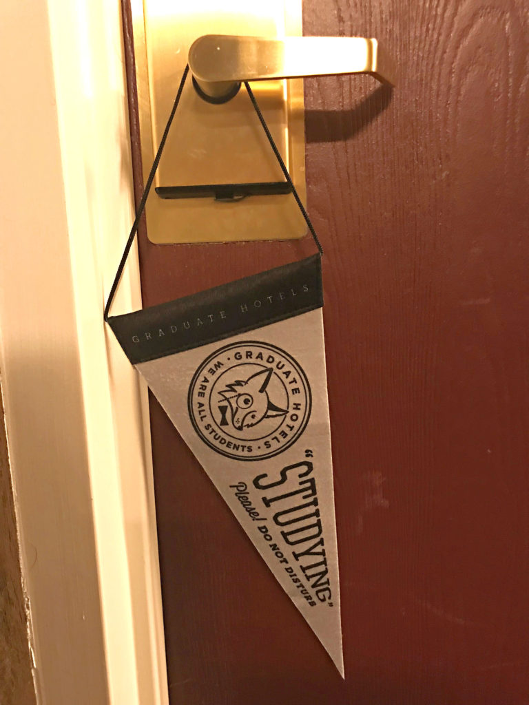 privacy door hanger graduate hotel Minneapolis