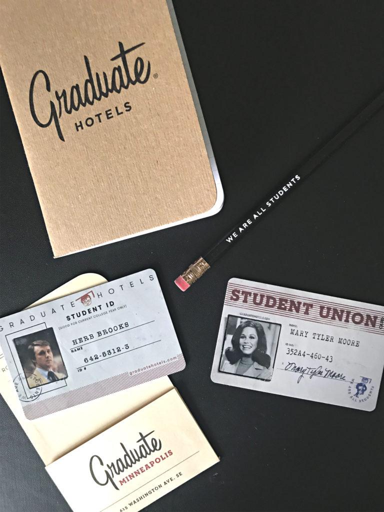 graduate hotel room keys