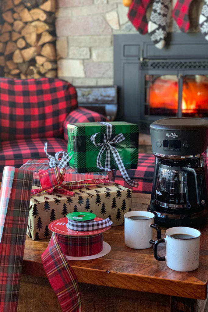 Mr. Coffee Wrapping Presents Coffee
