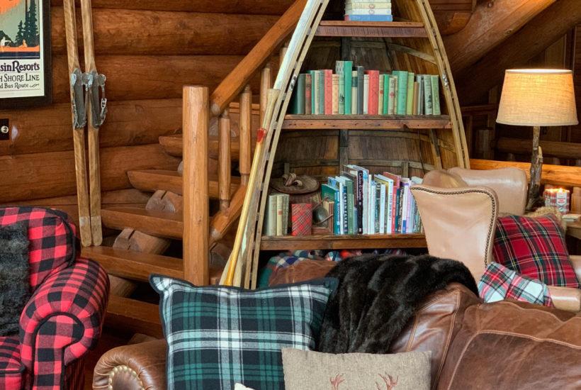 Cabin Bookshelves