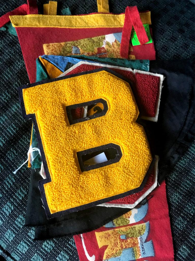 DIY Varsity Letter Pillow
