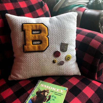 DIY Vintage Varsity Letter Pillow Project