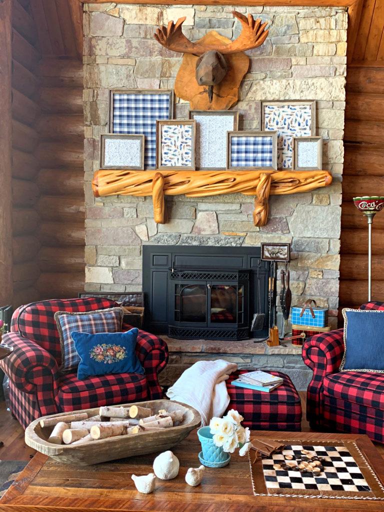 Blue Spring Decor- Cabin