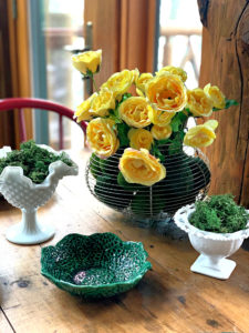 Spring Table, Moss and Roses