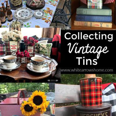 Lake House Decor- Vintage Tins