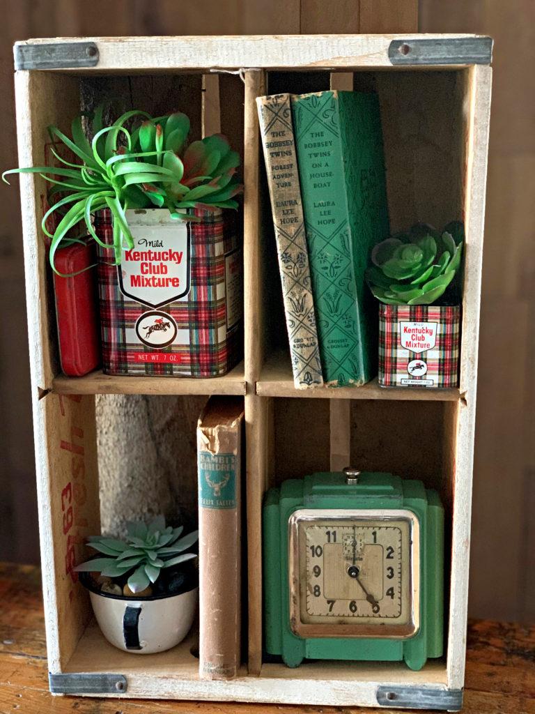 Soda Crate Shelf, Succulents