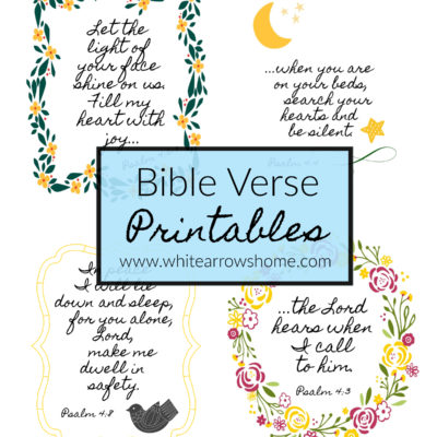 Pretty Bible Verse Printables- Psalm 4