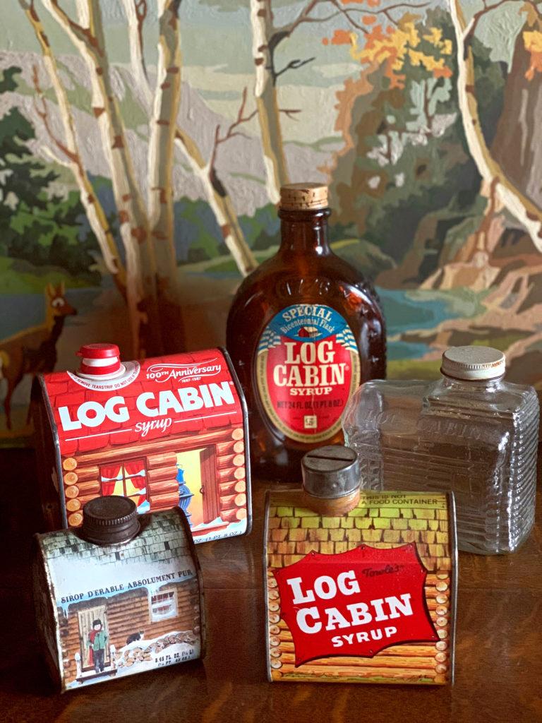 Vintage Log Cabin Syrup