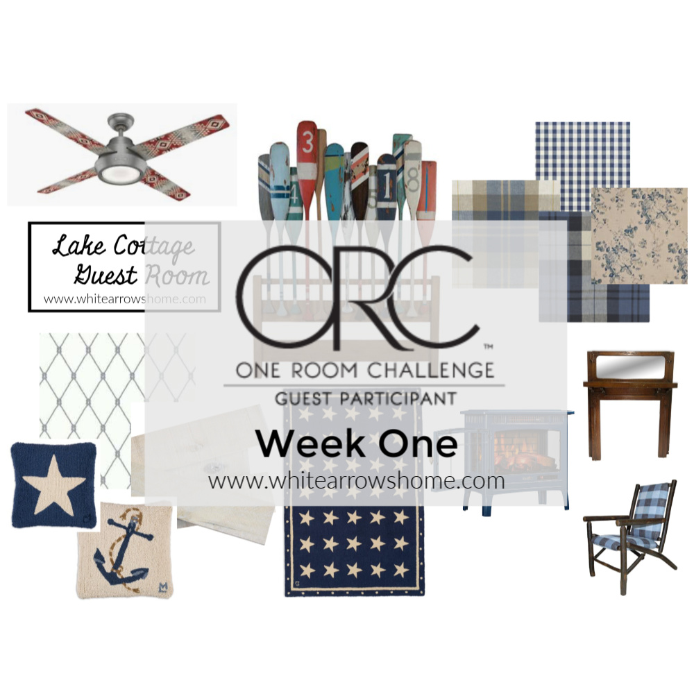 One Room Challenge Guest Room Plan- White Arrows Home