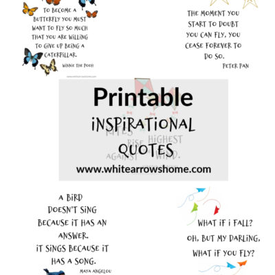 Printable Inspirational Quotes to Lift You Up