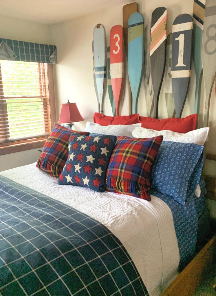 Nautical Bedroom, Chandler 4 Corners Pillow