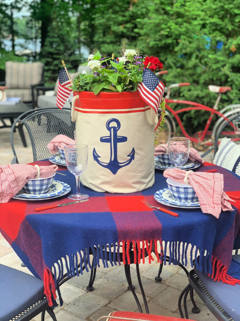 Red, White and Blue Table