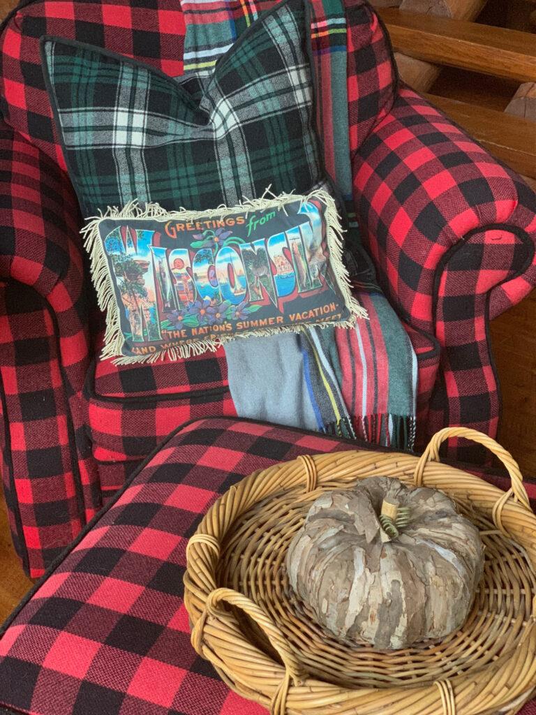 Cozy Reading Corner in the Cabin