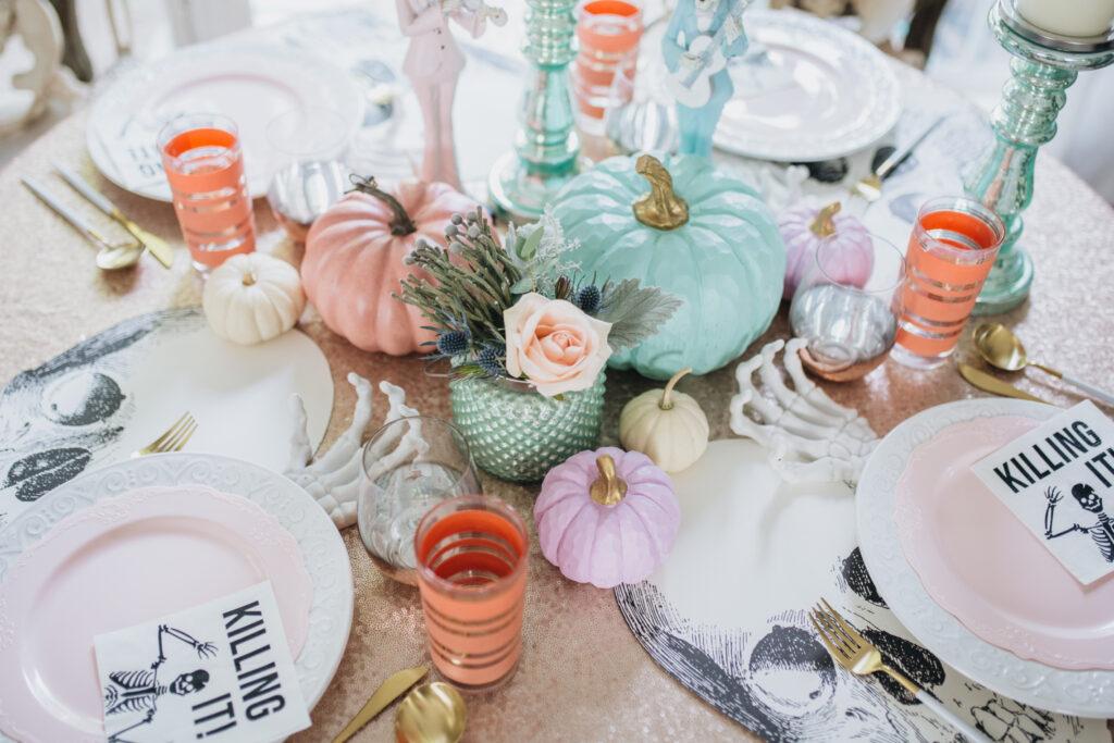 halloween pastel table