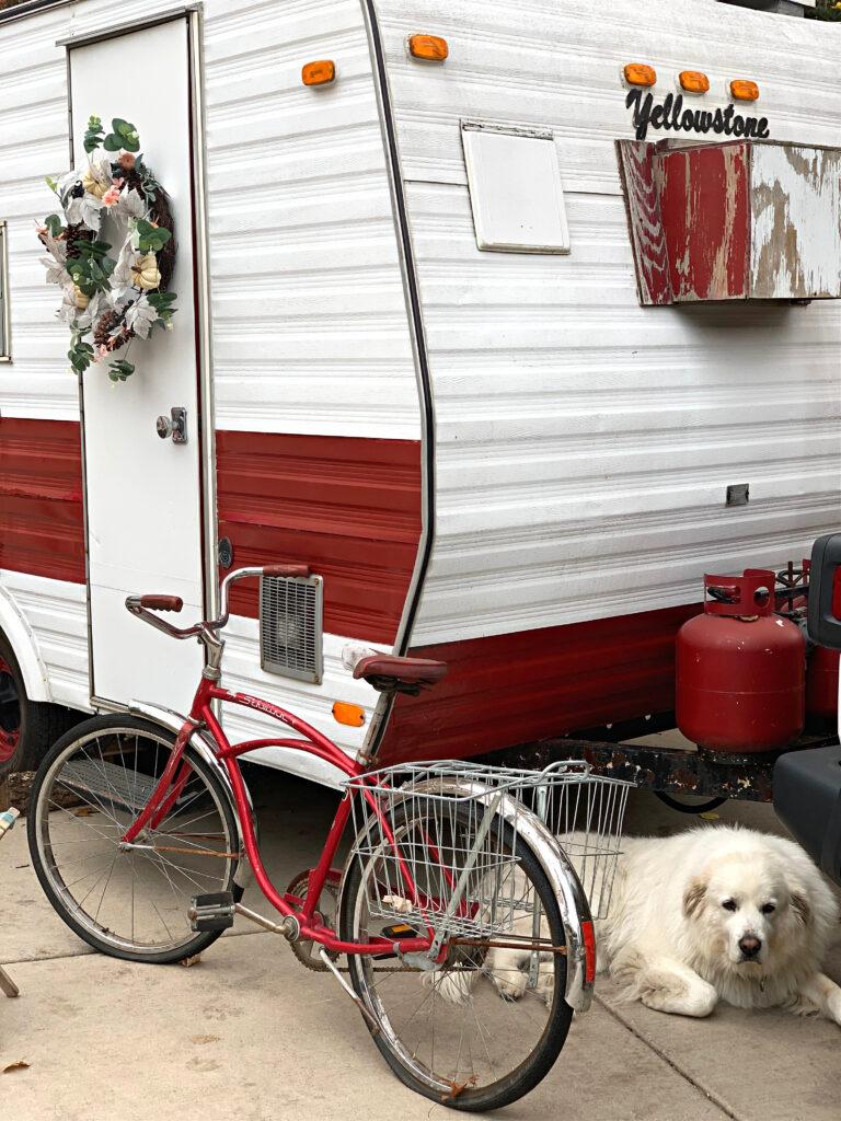 Fall Decor on Vintage Camper