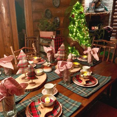 Mad for Plaid Christmas Table
