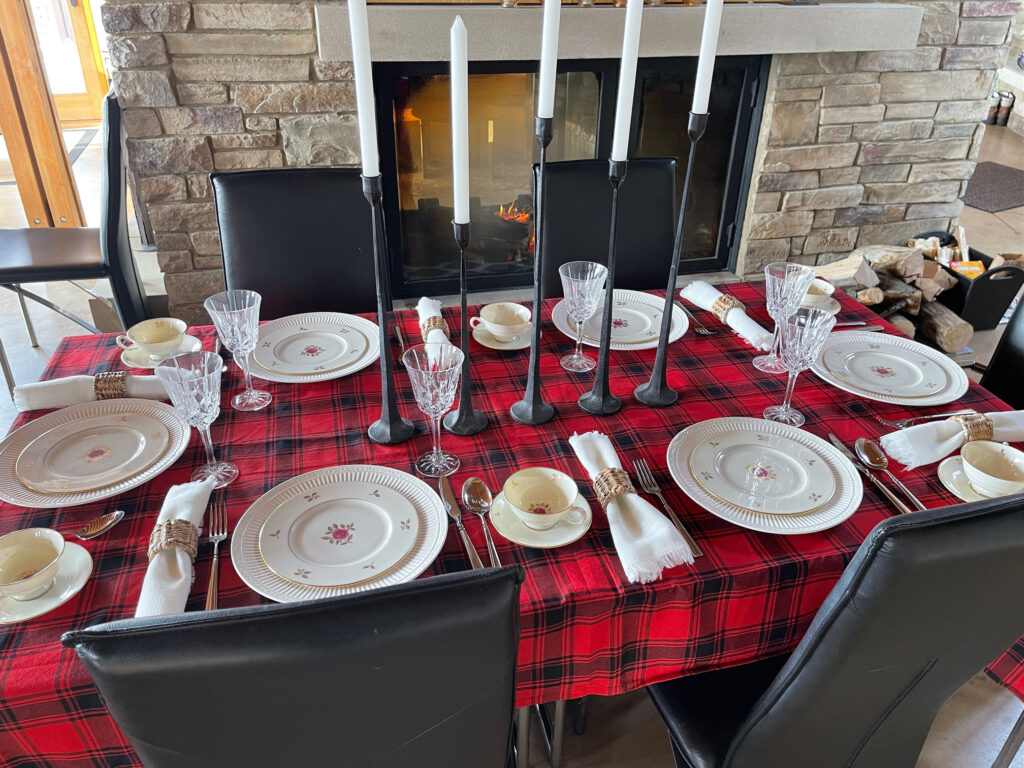 Winter Tablescape candles