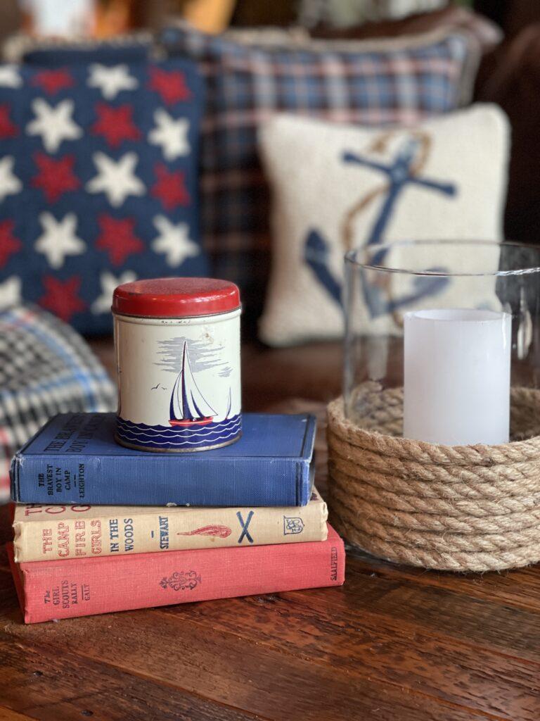 Nautical Decor on Coffee Table