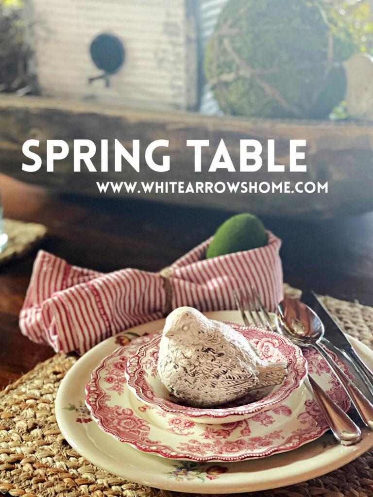 Spring Table Decor