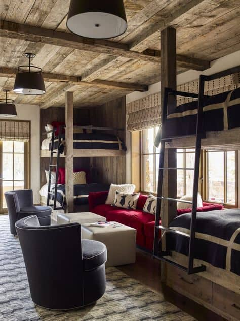 Bunk Room with Seating Area