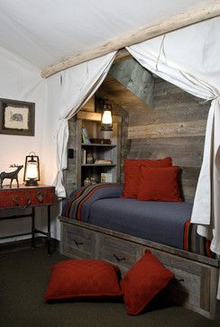 Bunk Room with Tent around bed