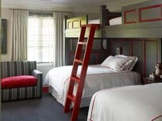 bunk room with full under twin