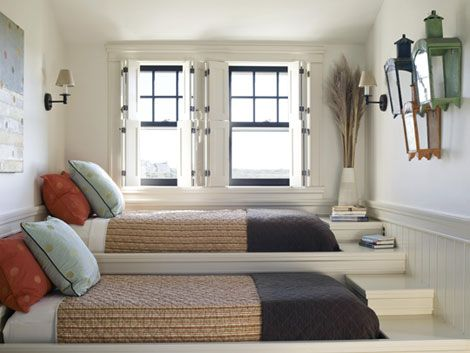 bunk room on risers