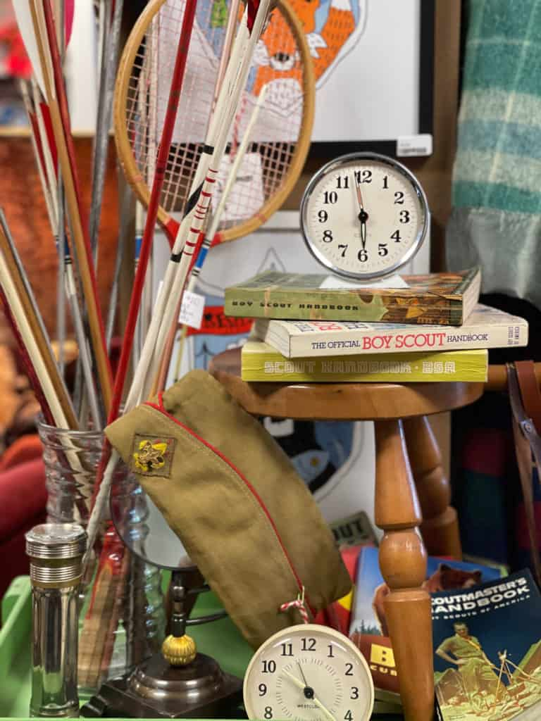 Vintage Clocks and Scouting Items