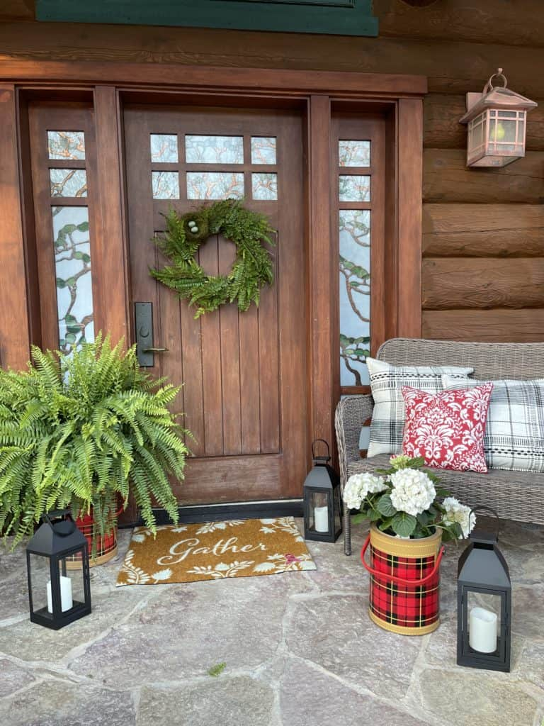 Front Porch Decor at the Cabin