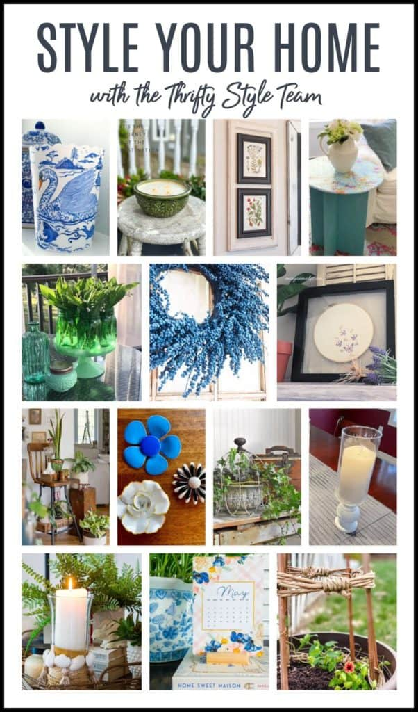 Projects from the monthly blog hop of the Thrifty Style Team
