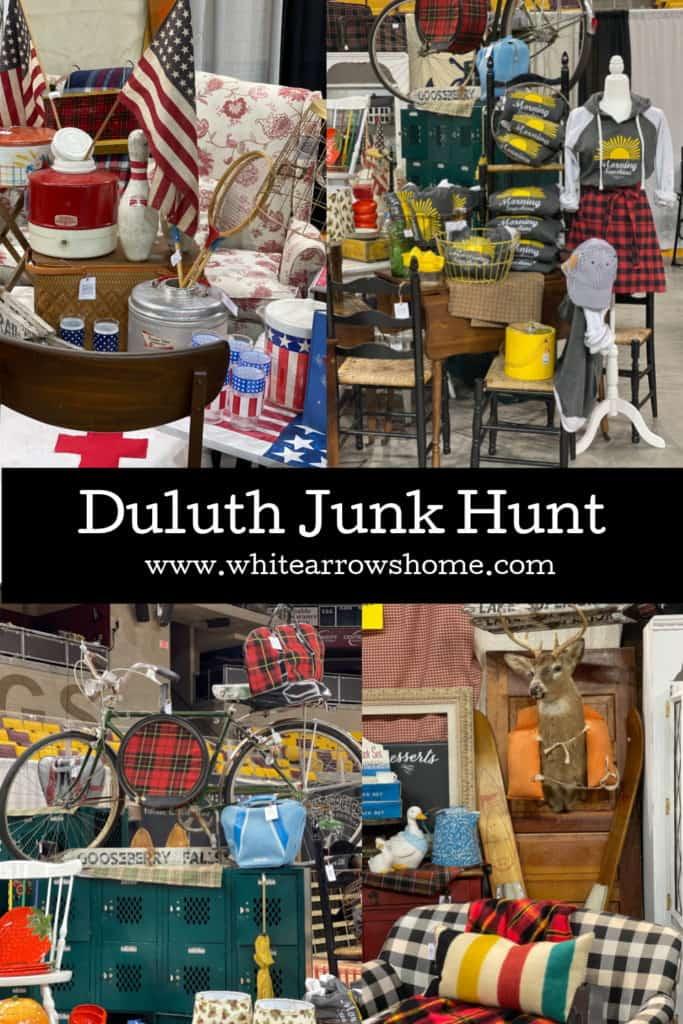 The White Arrows Home Booth at The Duluth Junk Hunt.
