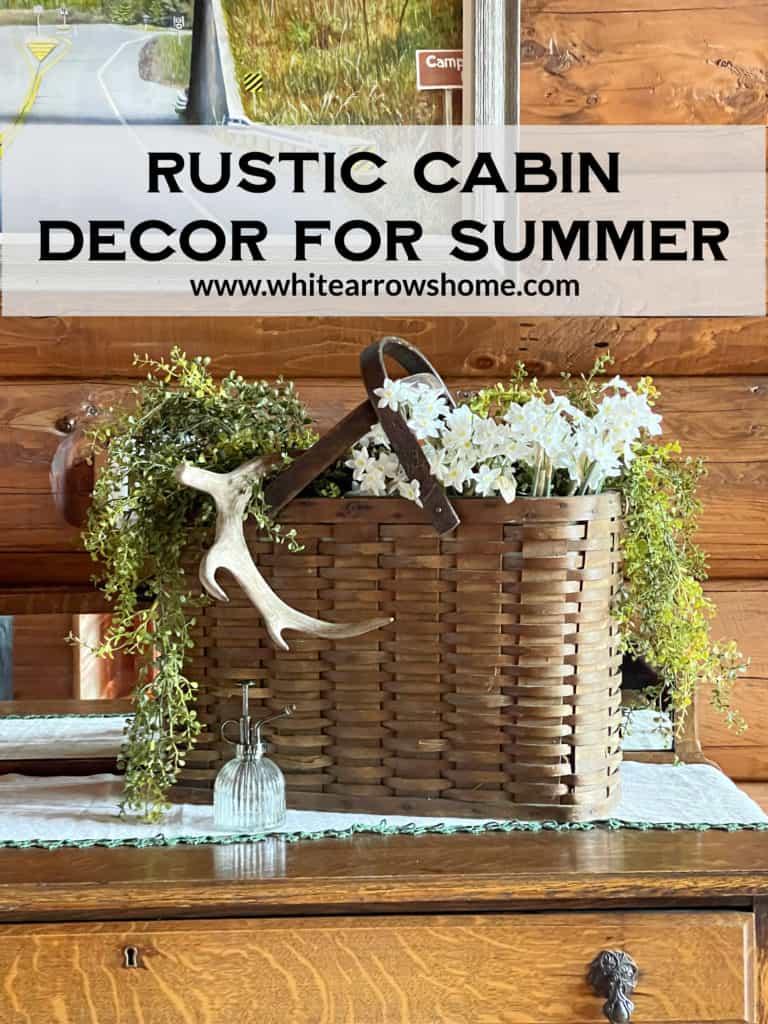 Rustic Basket Summer Decor