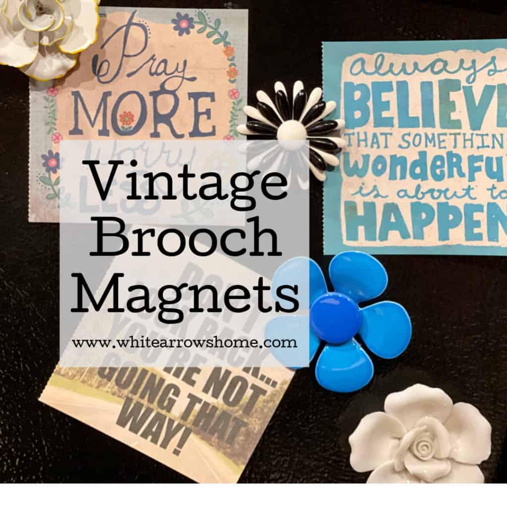 Vintage Brooch Magnet DIY