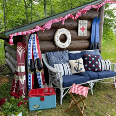 Styling Patriotic Decor Inside and Outside