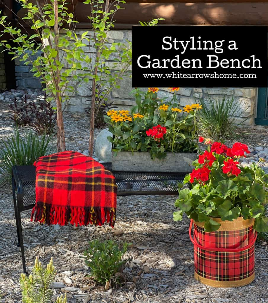 Styling a Garden Bench