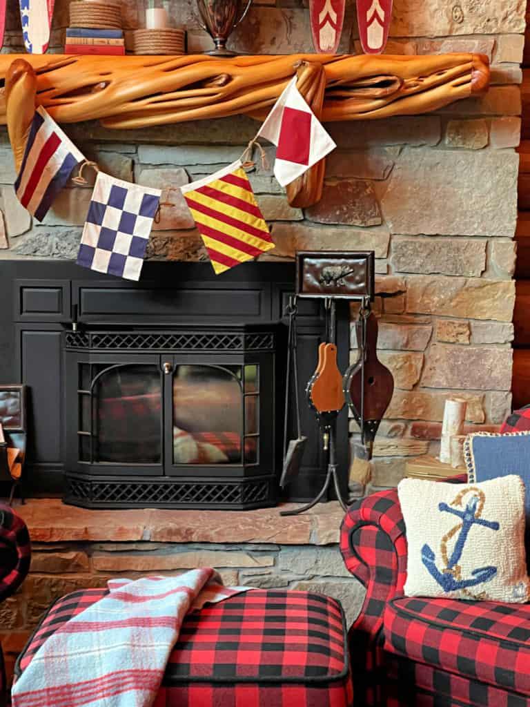 Cabin Summer Mantel Decor