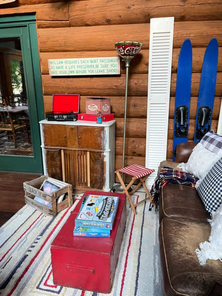 Cabin Sunroom Decor