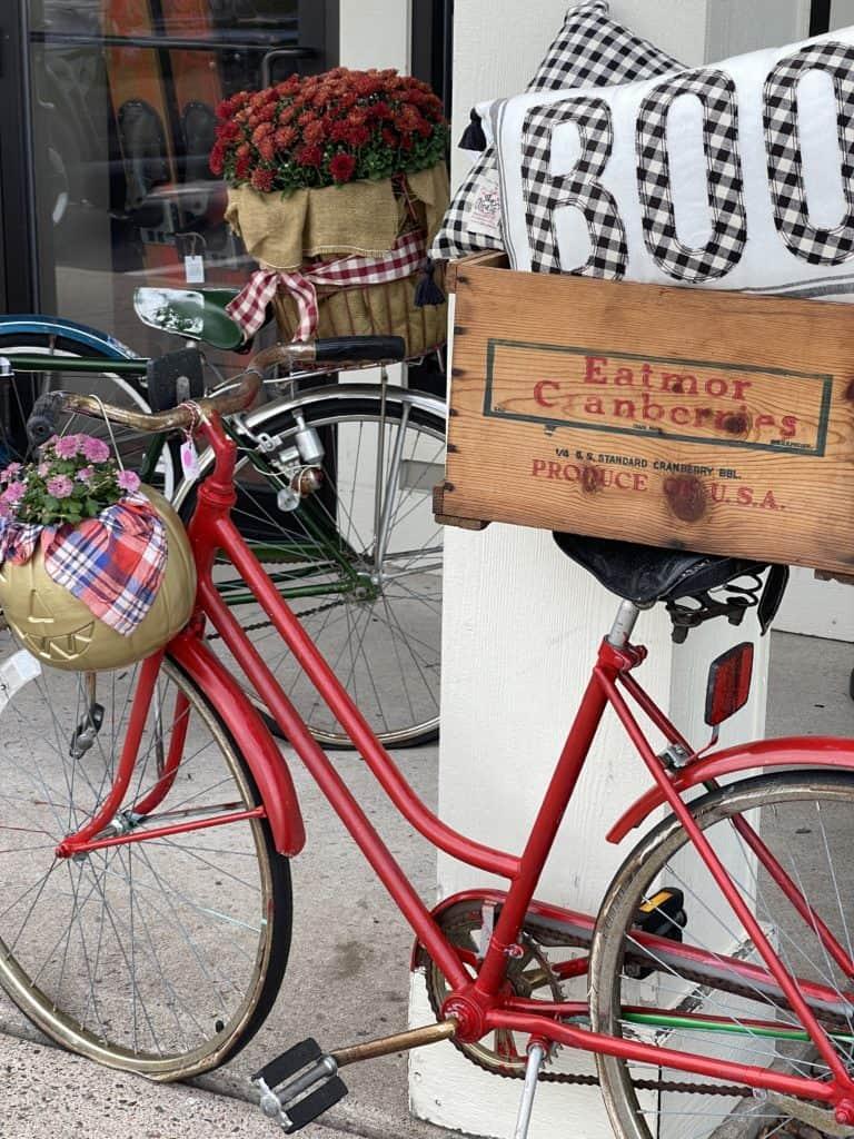Vintage Bike Decor at White Arrows Home