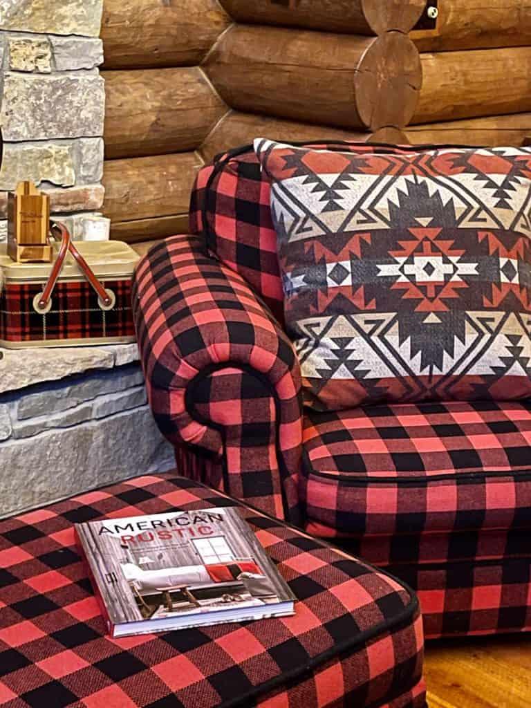 Cabin Decor Buffalo Plaid Chair
