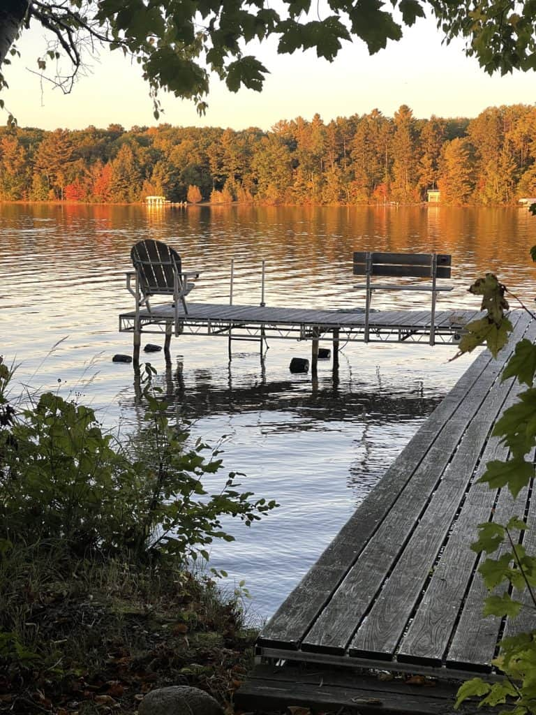 Fall at the Lake in the Northwoods of Wisconsin
